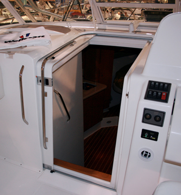 Teak isle and spartech marine cabin doors boat for Boat cabin entry doors