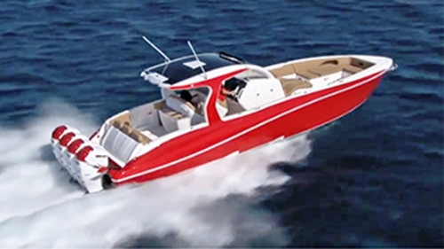 A Slick Deep Impact 399 Sport Console Cabin Video